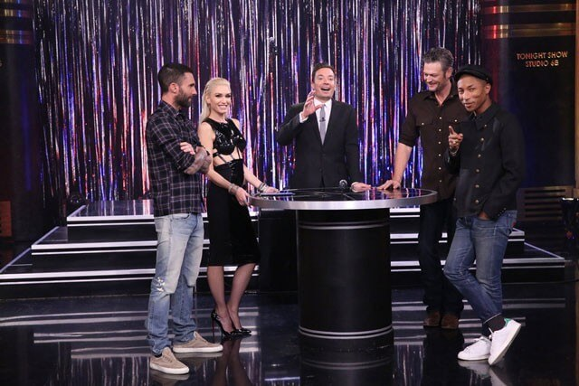 The Voice Coaches and Jimmy Fallon
