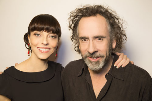 Juliet Landau and Tim Burton