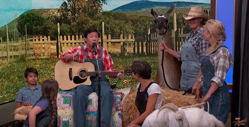 Ken Jeong Singing with Animals