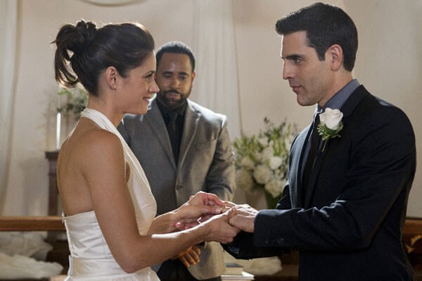 Rookie Blue Missy Peregrym and Ben Bass