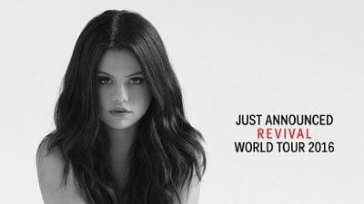 Selena Gomez 2016 World Tour