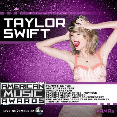 Taylor Swift AMA Nominations