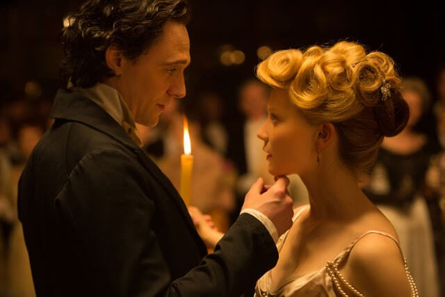 Crimson Peak Tom Hiddleston and Mia Wasikowska