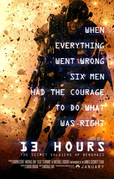 13 Hours Secret Soldiers of Benghazi Poster