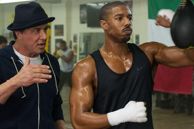 Sylvester Stallone Michael B Jordan in Creed