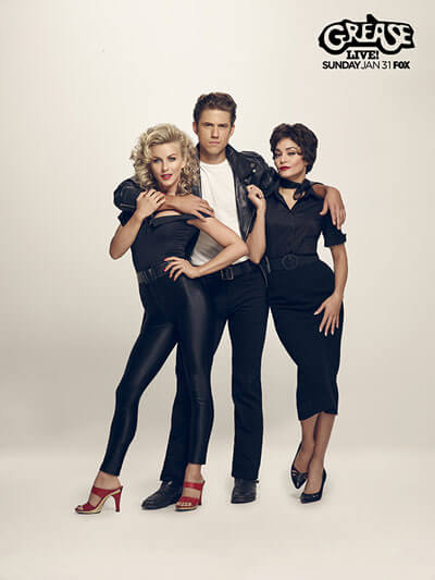 Grease Live Poster Julianne Hough, Aaron Tveit, Vanessa Hudgens