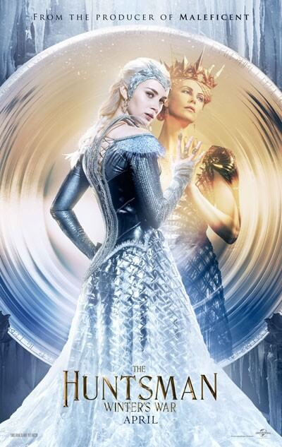 The Huntsman Winter's War Charlize Theron Emily Blunt Poster