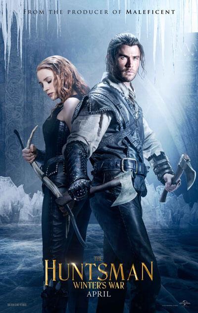 The Huntsman Winter's War Chris Hemsworth Jessica Chastain Poster