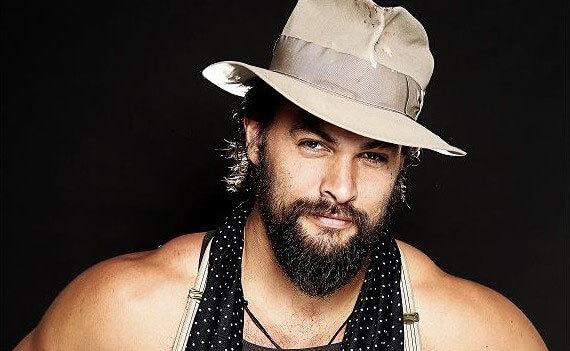 Jason Momoa wearing a hat