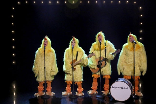 Meghan Trainor, Jimmy Fallon, Alanis Morissette Dressed as Chicks