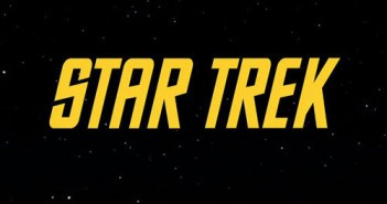 Star Trek Logo in Yellow on a Black Background