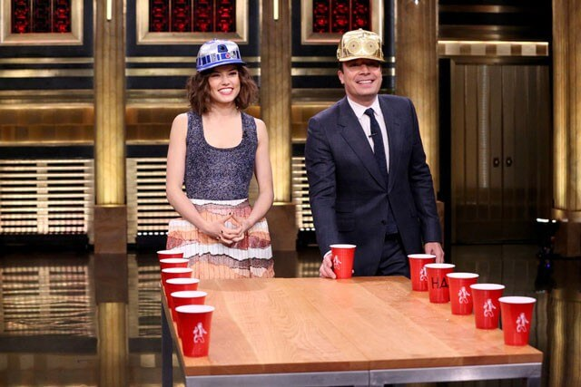 Daisy Ridley and Jimmy Fallon