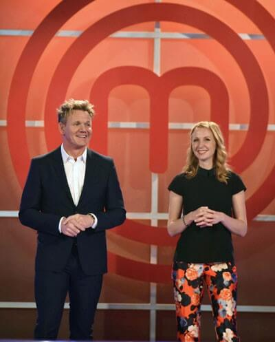 Masterchef Celebrity Showdown Gordon Ramsay and Christina Tosi