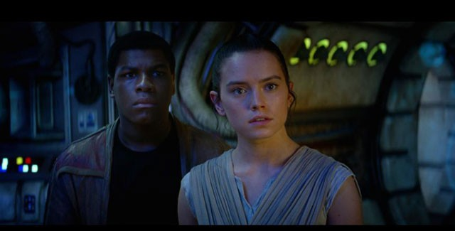 John Boyega Daisy Ridley Star Wars The Force Awakens