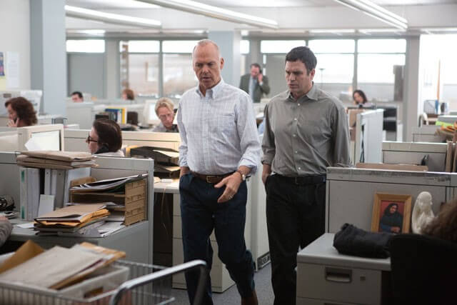 Spotlight Stars Michael Keaton and Mark Ruffalo