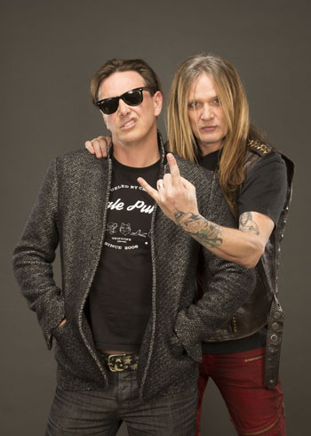 Donovan Leitch and Sebastian Bach in Breaking Band