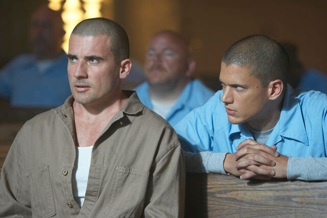 Dominic Purcell Wentworth Miller in Prison Break