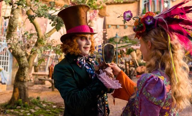 Johnny Depp and Mia Wasikowska Alice Through the Looking Glass