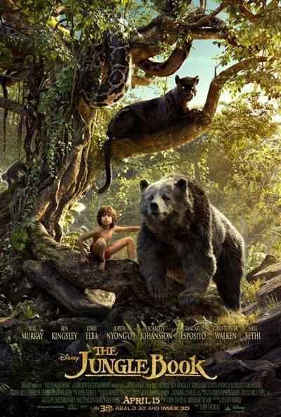 Jungle Book Baloo and Mowgli Poster