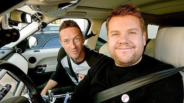 Chris Martin and James Corden Karaoke