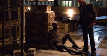 Charlie Cox and Jon Bernthal in Daredevil