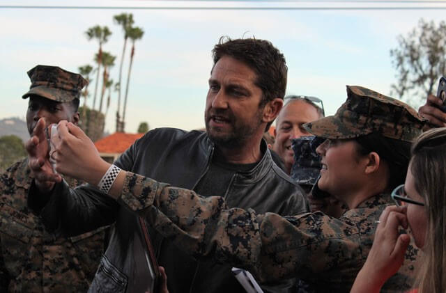 Gerard Butler at Camp Pendleton