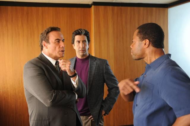 John Travolta, David Schwimmer and Cuba Gooding Jr People v OJ Simpson