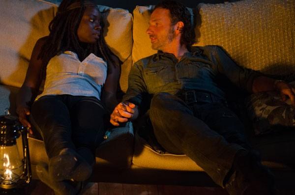 Danai Gurira and Andrew Lincoln Walking Dead