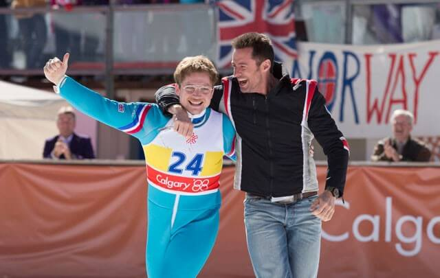 Taron Egerton Hugh Jackman Eddie the Eagle