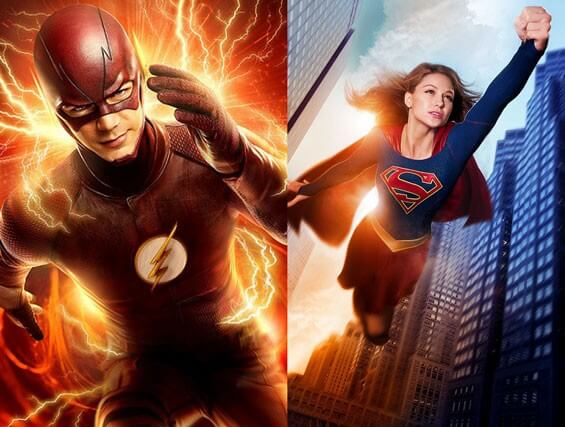 The Flash and Supergirl Cross Over
