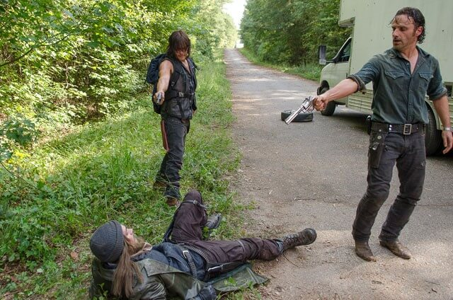 Walking Dead Season 6 Episode 10 Norman Reedus, Andrew Lincoln, and Tom Payne