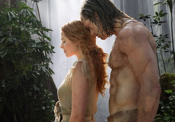 Alex Skarsgard and Margot Robbie in Legend of Tarzan