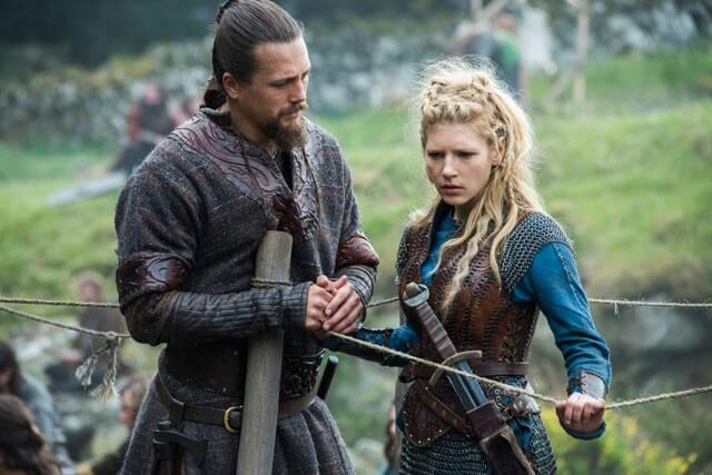 Vikings Season 4 Episode 5 Ben Robson and Katheryn Winnick