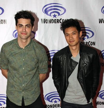 Shadowhunters Matthew Daddario and Harry Shum Jr