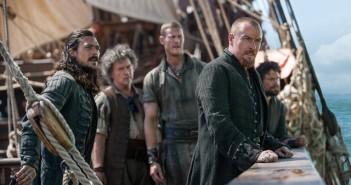 Tom Hopper, Toby Stephens and Luke Arnold inBlack Sails Season 3 Episode 7