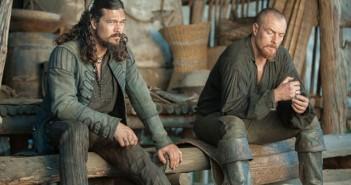 Black Sails Season 3 Episode 9 Luke Arnold and Toby Stephens