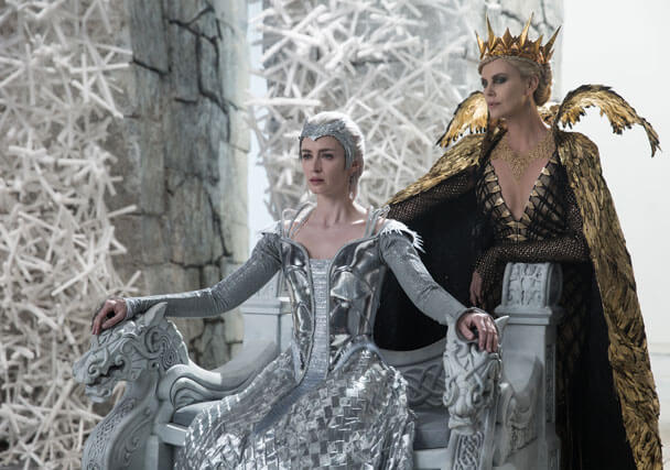 Huntsman Winter's War Emily Blunt and Charlize Theron