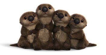 Otters in Finding Dory