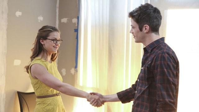Supergirl Melissa Benoist and Grant Gustin