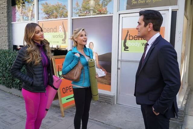 Sofia Vergara, Ty Burrell and Julie Bown in Modern Family