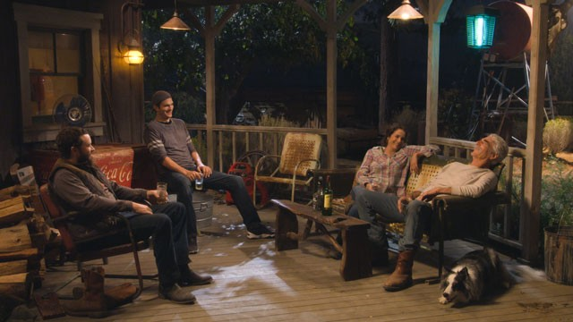 The Ranch Ashton Kutcher, Danny Masterson, Debra Winter and Sam Elliot photo