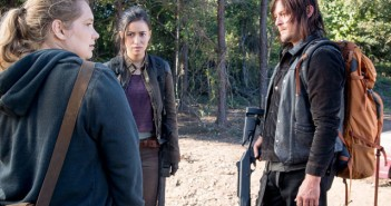 Walking Dead Season 6 Episode 14 Merritt Wever, Christian Serratos, and Norman Reedus