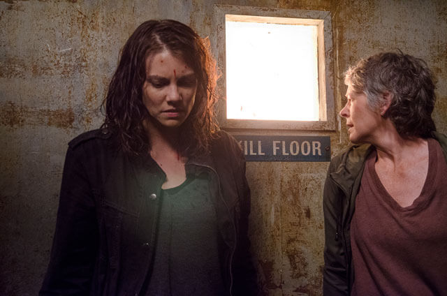 Walking Dead Season 6 Episode 13 Lauren Cohan and Melissa McBride