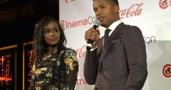 Aja Naomi King and Nate Parker CinemaCon 2016