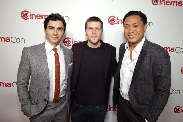 Dave Franco, Jesse Eisenberg, and Jon Chu at CinemaCon