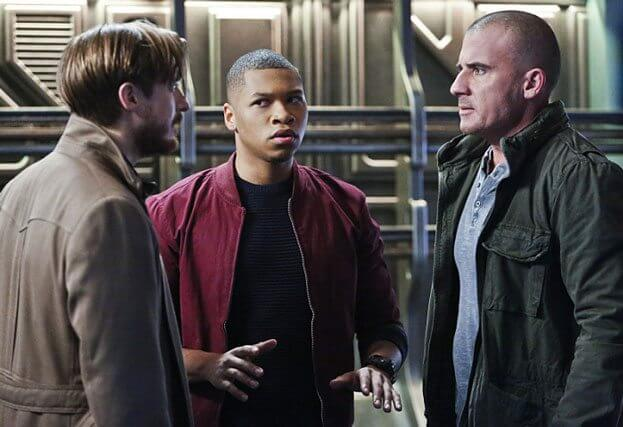 Legends of Tomorrow Arthur Darvill, Franz Drameh and Dominic Purcell