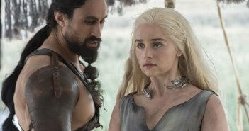 Game of Thrones Season 6 episode 1 Joe Naufahu and Emilia Clarke