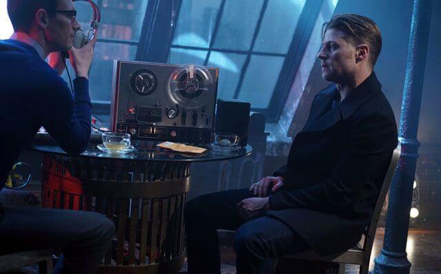 Gotham Season 2 Episode 17 Cory Michael Smith and Ben McKenzie