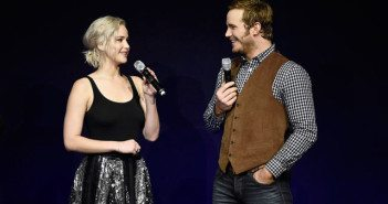 Jennifer Lawrence and Chris Pratt CinemaCon 2016