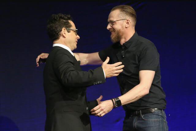 JJ Abrams and Simon Pegg